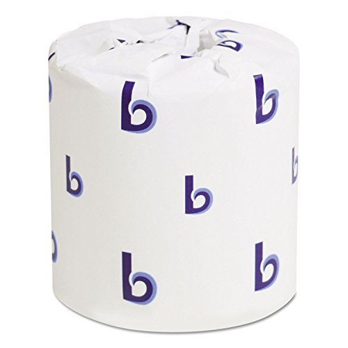 Boardwalk 6180 Bath Tissue, Two-Ply, White, 500 Sheets per Roll (Case of (Bath Tissue White 2 Ply)