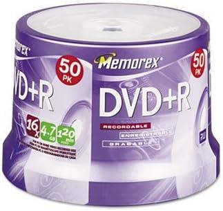 imatn-memorex DVD + R Recordable Disc, DVD + R, 4.7 GB, 50/spndl (Pack de 4: Amazon.es: Electrónica