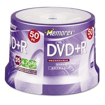 Imatn-Memorex Dvd+R Recordable Disc ,Dvd+R ,4.7Gb ,50/Spndl (Pack Of 4 by IMATN