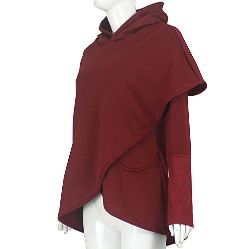 Vestito Maglione Manica Lunga Felpa Cappuccio Con Inverno Vicgrey qrAPq5X
