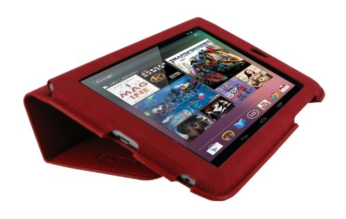 rooCASE Ultra-Slim (Red) Vegan Leather Folio Case for Google Nexus 7 Tablet (Built-in sleep / wake feature) Photo #8