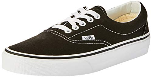 Vans Unisex Adults Era Classic Canvas Low-Top Trainers, Black,10.5 M US Women / 9 M US Men