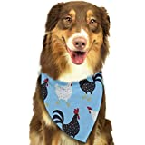 FRTSFLEE Dog Bandana Cock Pattern Scarves Accessories Decoration for Pet Cats and Puppies