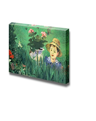 wall26 - Boy in Flowers by Edouard Manet - Canvas Print Wall Art Famous Painting Reproduction - 24