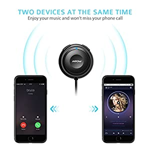 Mpow Bluetooth Receiver for Car, Hands-Free Car Kits/Bluetooth Aux Car Adapter 3 in 1 with Dual USB Car Charger & Ground Loop Noise Isolator for Car Audio System (HFP/HSP/A2DP/ACRCP)