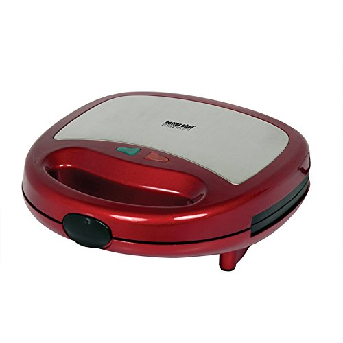 Better Chef Panini Contact Grill- Red With Stainless Steel