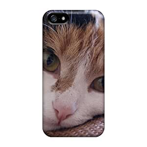Top Quality Case Cover For Iphone 5/5s Case With Nice Animals Lazy Cat Appearance