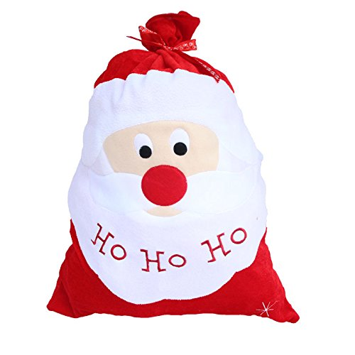 Zerowin Christmas Santa Claus Candy Bags Gift Bag Santa Sack Stocking Filler Bags Xmas Decoration Creative Home Party (Santa Claus) by Zerowin (Image #4)