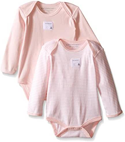Burt's Bees Baby - Set of 2 Bee Essentials Long Sleeve Bodysuits, 100% Organic Cotton