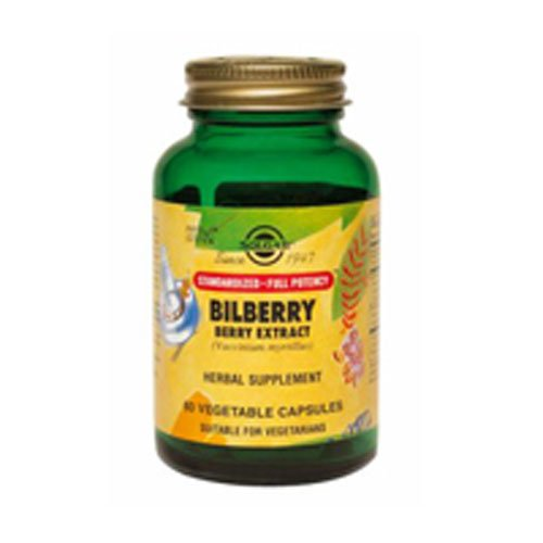 SFP Bilberry Berry Extract Vegetable Capsules, 60 V Caps (Pack of 3)