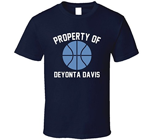 Deyonta Davis Property of Memphis Basketball Sports Athlete T Shirt L Navy
