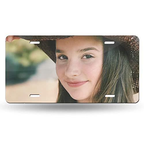 Bayarsea License Plate Annie Cowboy Leblanc 3D Funny Auto Car Tag Metal Cover ()