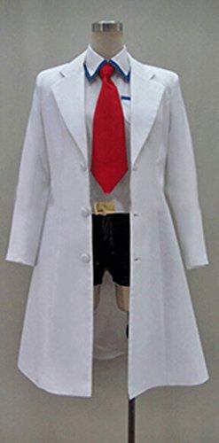 [FOCUS-COSTUME Steins gate Makise Kurisu Coat Suit Cosplay Costume] (Kurisu Makise Cosplay Costume)