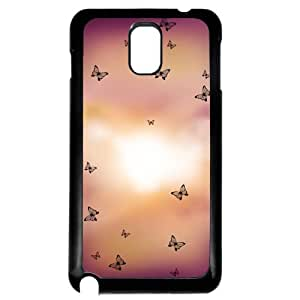 Cover for Samsung Galaxy Note 3 Butterflies sunset pretty pattern art Phone case