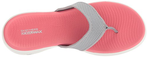 Grigio Punta grey Skechers Go pink The On A Sandali Donna Aperta 600 xzzqHwvrY
