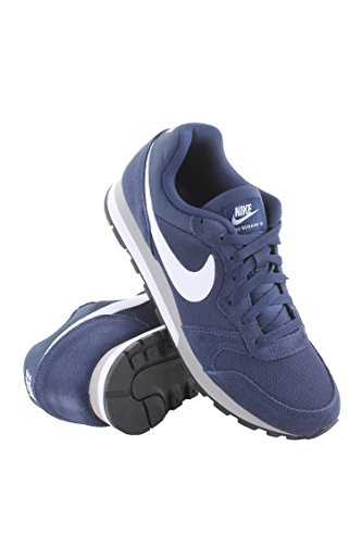 Nike Men's MD Runner 2 Running Shoe (9 D(M) US, Midnight Navy/White/Wolf Grey) (Classic Nike Sneakers compare prices)