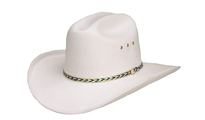 e2487704b4f Image Unavailable. Image not available for. Color  Western Express Kids  White Faux Felt Cowboy Hat