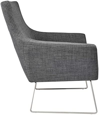 Adesso Kendrick Chair, Charcoal Grey