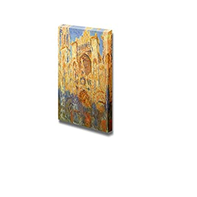 Rouen Cathedral, Facade (Sunset) by Claude Monet - Canvas Print Wall Art Famous Oil Painting Reproduction - 24