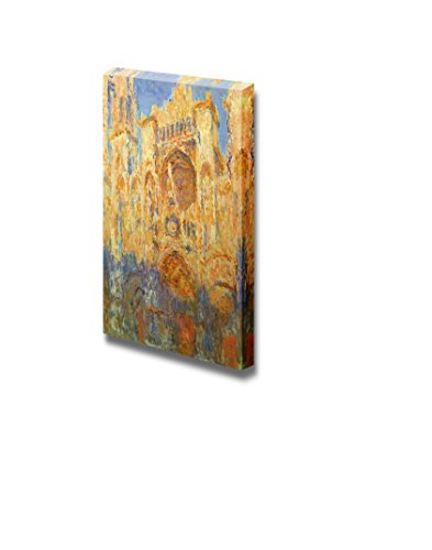 Rouen Cathedral Facade (Sunset) by Claude Monet Print Famous Oil Painting Reproduction