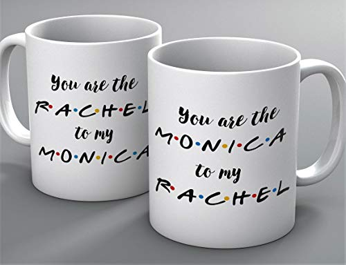 Funny Mug - You're the Monica to my Rachel 2 mug set - FRIENDS TV Show Mug - Mug Inspired By Friends - Coffee Mug - Quote Inspired By Friends - Gifts - Best Friends, Friendship - Rachel, Monica (Best Of Rachel Friends)