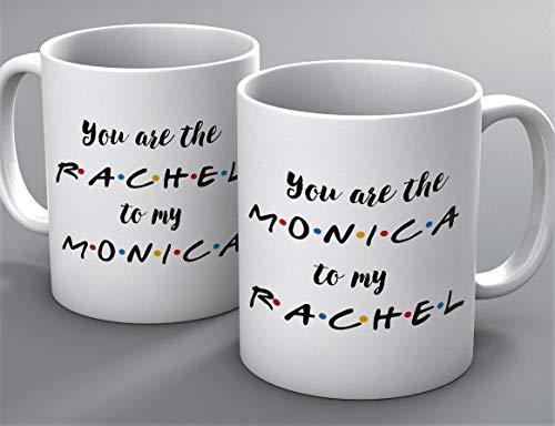 Funny Mug - You're the Monica to my Rachel 2 mug set - FRIENDS TV Show Mug - Mug Inspired By Friends - Coffee Mug - Quote Inspired By Friends - Gifts - Best Friends, Friendship - Rachel, Monica (Best Of Rachel Friends)