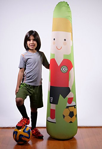 BONK FIT High Performance Polyurethane Inflatable Target, PVC-Free Pop Up Training Mannequin with One Year Warranty and Machine Washable Cover - Soccer 5ft by BONK FIT (Image #3)