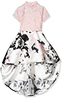 Speechless Girls' Mock Neck High-Low Party Dress