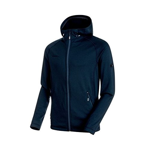 Mammut Men's Runbold ML Hooded Jacket, Marine Dark Melange, M, 1010-23220-50074-114 from Mammut