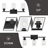 MELUCEE Bathroom Vanity Light Fixtures 3 Lights