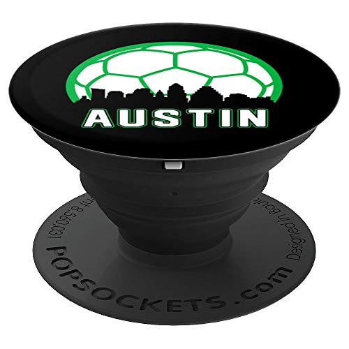 Vintage Austin Soccer TX Home Skyline - PopSockets Grip and Stand for Phones and Tablets
