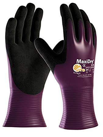 Size M Purple ATG 56-426//8 Safety and Work Gloves