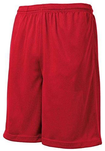 Sport-Tek Men's PosiCharge Tough Mesh Pocket Short L True Red