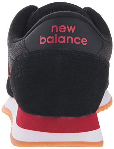 New Balance 501 Ripple Sole Black Red Mens Trainers Black Red