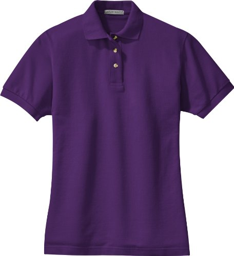 Port Authority - Ladies Pique Knit Sport Shirt. L420 - Purple - XXX-Large