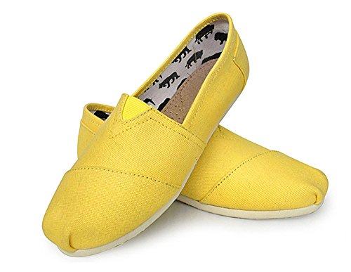 Mujer Amarillo Bestjuly Con Cuña Sandalias q6SSB8t