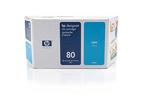 CItoh VP 2020 -Original HP C4846A / Nr 80 - Cyan Ink Cartridge -350 ()