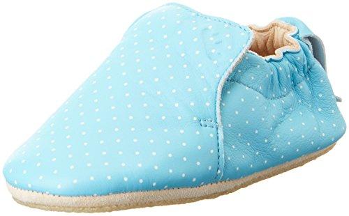 Easy PeasyBlublu Print - patucos y zapatillas de estar por casa Bebé-Niños Blau (bleu baby plumetis blanc)