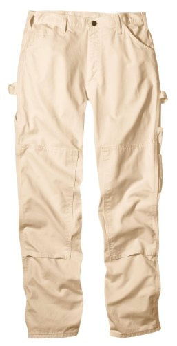 Dickies Men's 8 3/4 Ounce Double Knee Painter's relaxed fit Pant, Natural, 34W x 30L (Relaxed Fit Utility Pant)