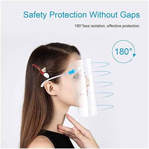 Face Shields Set with,Face Shields Set with Anti Fog Shields and Glasses for Man and Women to Protect Eyes and Face… |
