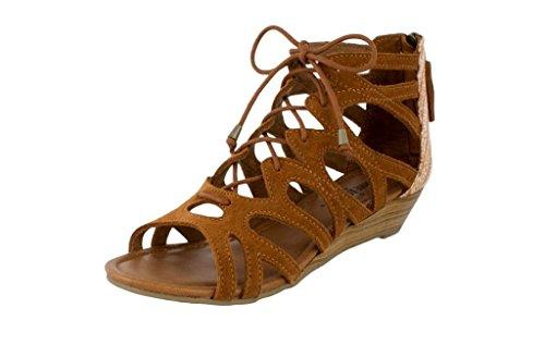 Women's Heel Kasbah Low Suede Merida Sandals III Minnetonka Brown Brown Fabric AxnqrASw