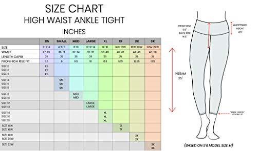 b47f98148bb93 90 Degree By Reflex High Waist Squat Proof Ankle Length Interlink Leggings  - Black - XS