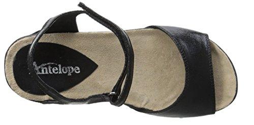 Sandalo Con Zeppa Antilope Donna 722 Nero