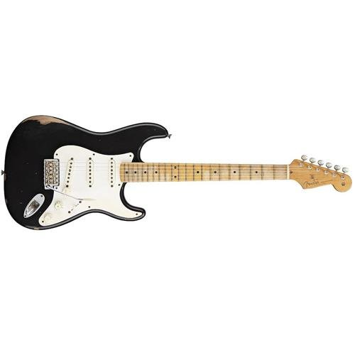 Fender Road Worn'50s Stratocaster Electric Guitar, Black, Maple Fretboard