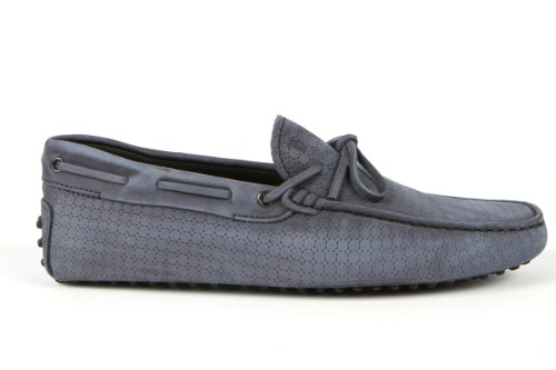 Tod's Mens Shoes Grey Gommino Front Tie Moccasins USA Size 6 (Printed Size 5) T140