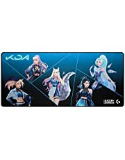Logitech G840 K/DA XL Cloth Gaming Mouse Pad - 3 mm Thin, Stable Rubber Base - Official League of Legends Gaming Gear