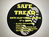 Black Anti-Slip Tape (4 Inch x 30 Feet) – Adhesive Staircase Step Friction Safety Tread for Indoor & Outdoor Stairs & Floors – 80 Traction Grit Weather Resistant Antiskid Tape for Heavy Traffic