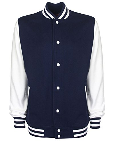 Pesante In College Stile Cotone white Navy Giacca Fdm Unisex WwgpqIYCxP