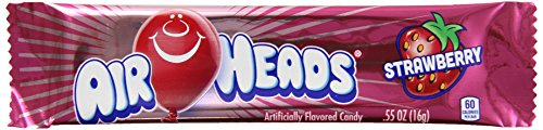Airheads Candy, Strawberry, 36 Count (Pack of 12) by Airheads