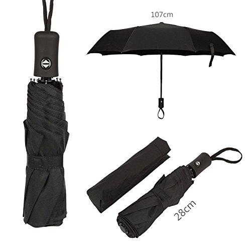 Automatic Folding Compact Rain Waterproof Windproof Umbrella Travelling